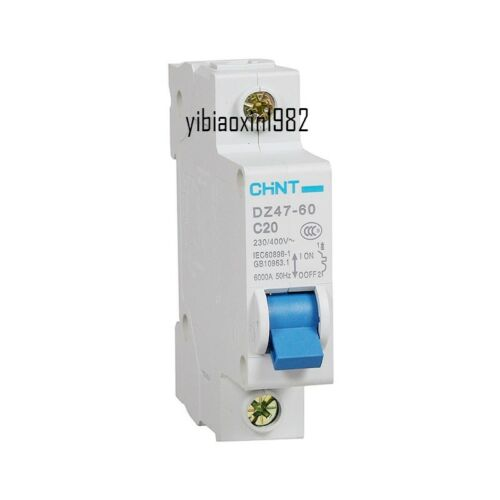 DZ47-60 C20 AC230//400V 1P 20A Rated Current 1 Pole Miniature Circuit Breaker