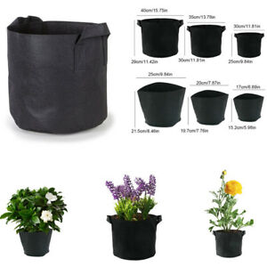Details About Black Non Woven Fabric Planting Bags Plants Grow Pots For Gardening Balcony