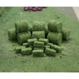Tasma Scenery - Hedges & Foliage - Hay Bales 10 round/15 rectangle