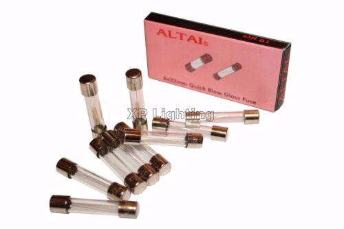 Pk X10 Glass Fuse 32mm x 6mm Quickblow 100mA 150mA 200mA 250mA 350mA 500mA 630mA