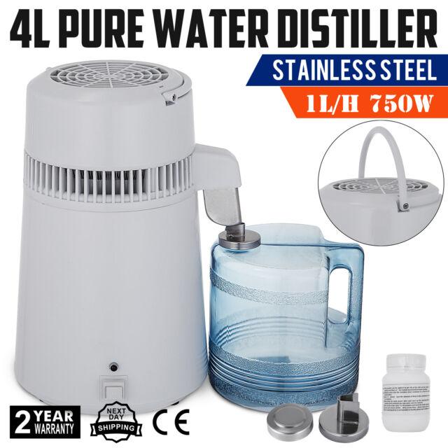 Fast ship!4L Stainless Steel Internal Pure Water Distiller Filter Distilled 110V