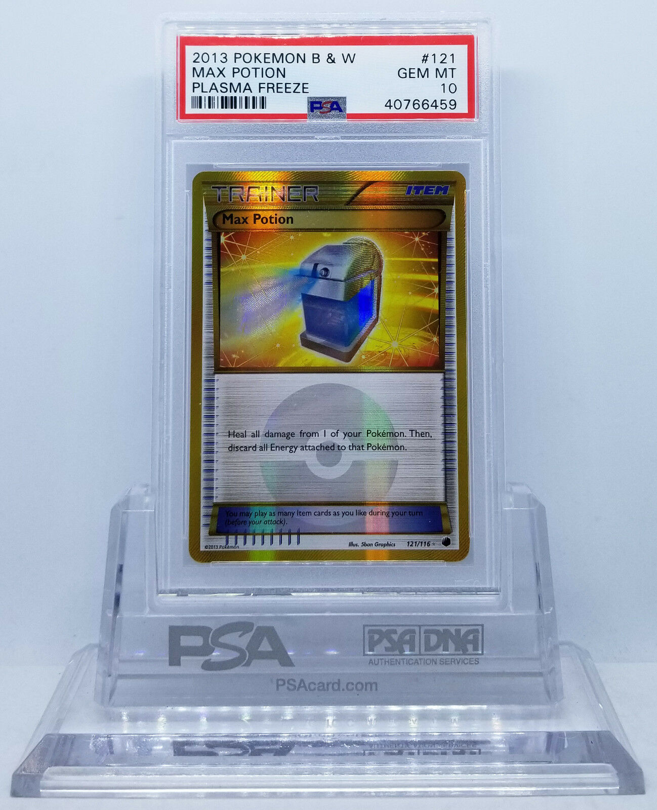 Pokemon plasma friedze Max pontion   116 holograma CAPSA PSA 10 gemas y menta 35, 23 de agosto