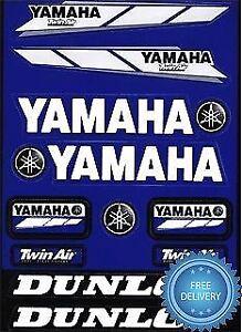 Details About 4mx Sticker Decal Yamaha Logo Twin Air Dunlop Fits Yzf R125 08