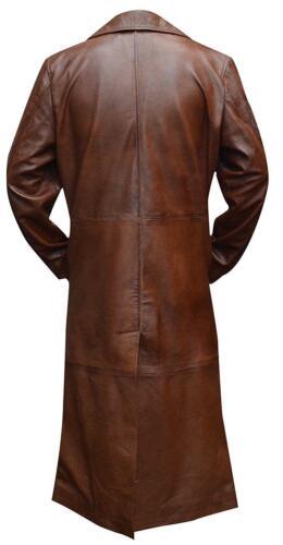 Men/'s New Celebrity Look Batman Vs Superman Dawn of Justice Leather Trench Coat