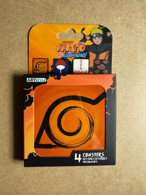 Naruto Shippuden Akatsuki 4 Pack Coaster set