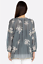 JOHNNY-WAS-Embroidered-SOPHIA-PEASANT-BLOUSE-Tie-Neck-Gray-Tunic-XS-245 thumbnail 6