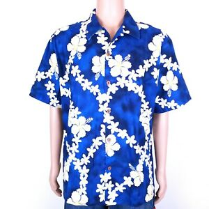 4d6627f864ee Image is loading Howie-Men-Button-Front-Shirt-Hibiscus-100-Cotton-