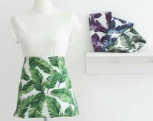 Botanical Banana Leaf Leaves Patterned Fabric Made In Korea By The