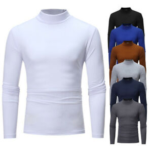 639173c5ddab31 Men Thermal T shirt Autumn Winter Top Long Sleeve Tee Seamless High ...