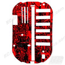 Tamiya Bathtub Chassis TT01 51001 Protector Graphics Thick - Graffiti Red