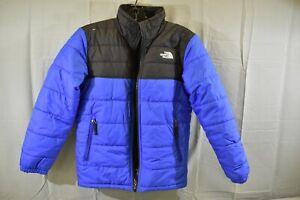 The-North-Face-Mount-Chimborazo-Jacket-DAMAGED-Boys-Size-M-Blue-Black
