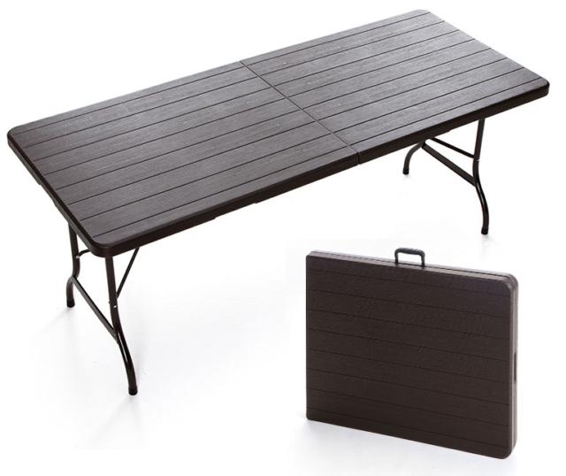 Tavoli In Plastica Pieghevoli.Tavolo Pieghevole In Resina E Metallo 180 X 75 X 72 Cm