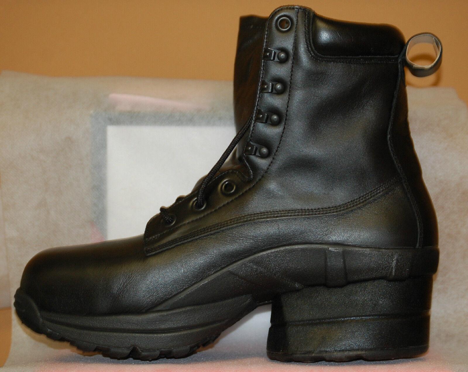 7ec6f479e7e Z-coil Men's Prime Workboot Black Leather Size 9 Non Safety Toe Enclosed  Coils