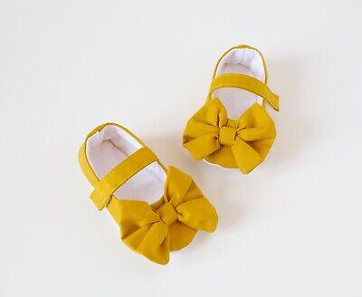 Baby shoes, baby girls shoe, Mustard