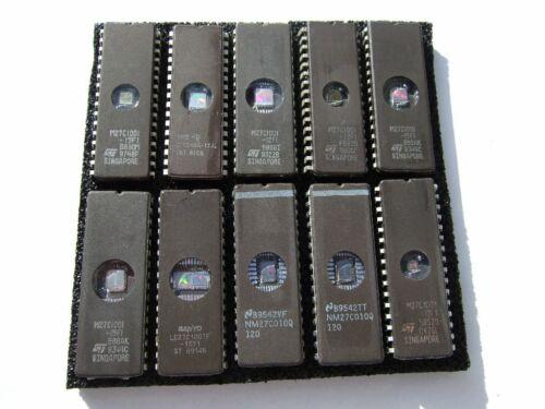 27C010  Eproms Eprom mit UV-Fenster gereinigt und gelöscht 10 x 27C1001
