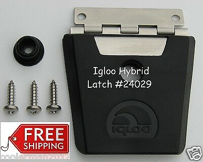 NEW IGLOO HYBRID STAINLESS STEEL & PLASTIC LATCH #24029 - LATCH, POST & 3 SCREWS