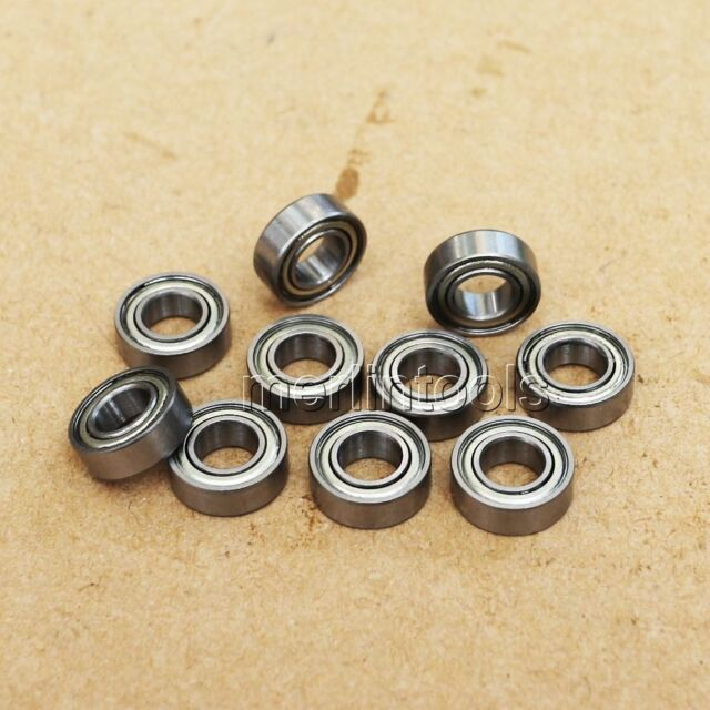 "10Pcs R6 zz Double Shielded Deep Groove Ball Bearing 3/8"" x 7/8"" x 9/32"""