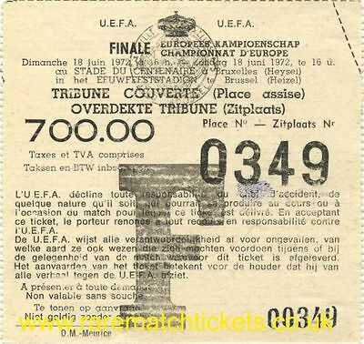 reproduction EUROPEAN NATIONS HENRI DELAUNAY FINAL TICKET GERMANY FRANCE SPAIN