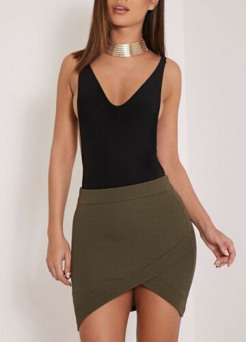 14 10 12 NEW LADIES WOMENS GABRIELLA ASYMMETRIC MINI SKIRT SIZE 8
