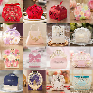 New Luxury Wedding Favour Boxes Party Candy Gift Boxes Many