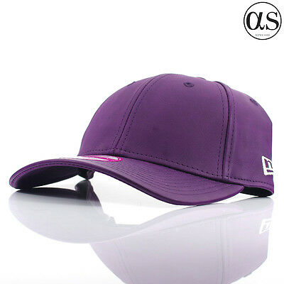 953a755a Details about Womens New Era 9FORTY 'Faux Leather' Original Purple Curved  Peak Adjustable Cap