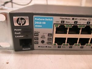 Details about HP ProCurve 2610-48 Switch (48-Port Fast Ethernet Switch)  with Brackets