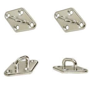 Stainless Steel Boat Diamond Pad Eye Plate Marine Grade Boat//Yacht Accessory