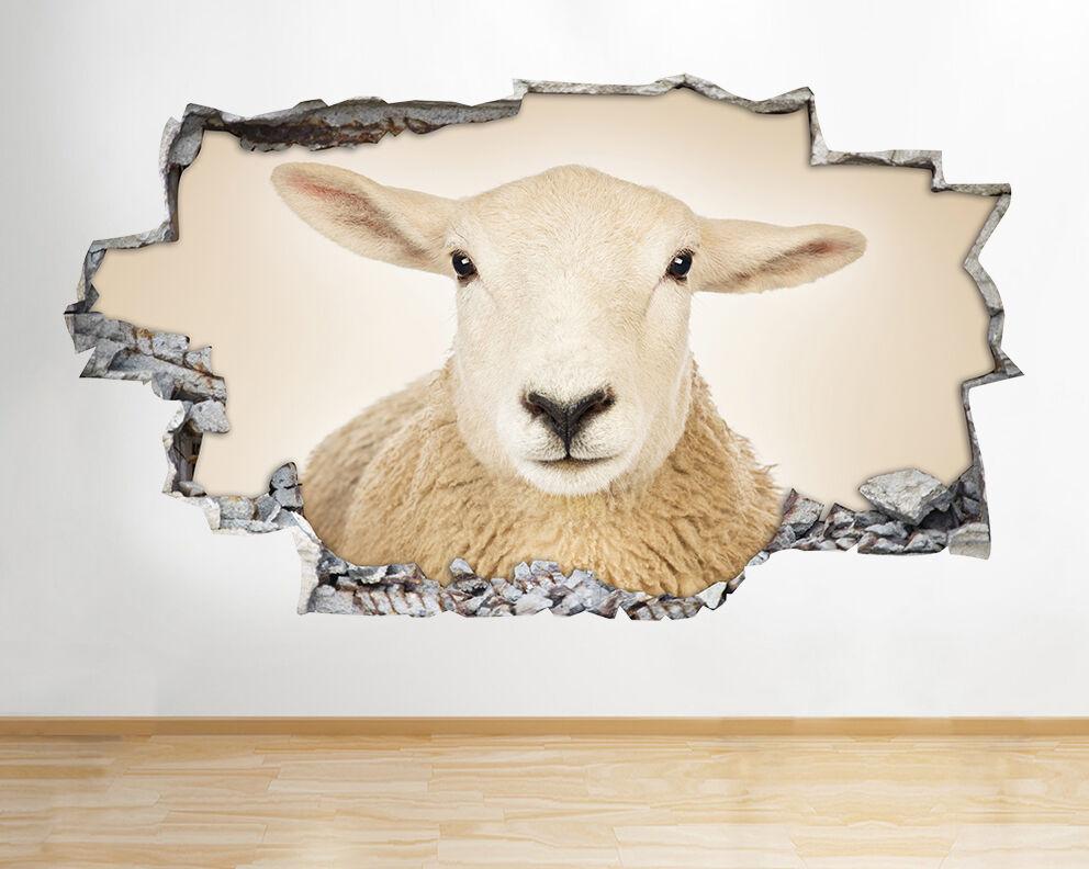 Sheep Animal Agnello Carino Farm Nursery ragazz adesivo da parete camera bambini