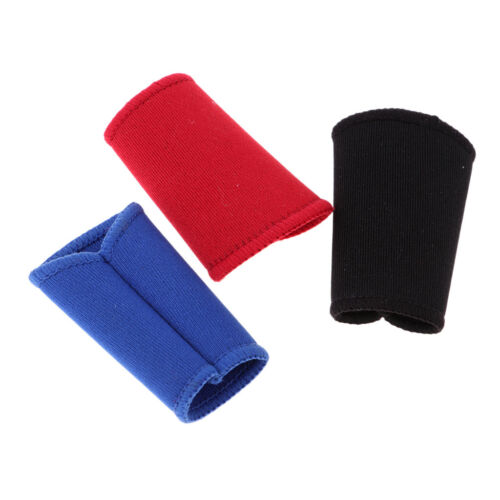 3Pcs Basketball Stretchy Finger Sleeves Support Wrap Arthritis Brace Bands
