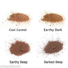 Mineralshack 4 Dark Skin face powder sample kit bag full cover foundation makeup