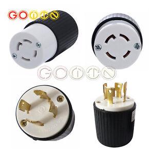 30a 125 250v l14 30 twist lock 4 wire male female generator plug nema  l14-30 plug wiring diagram l14 30 generator plug wiring