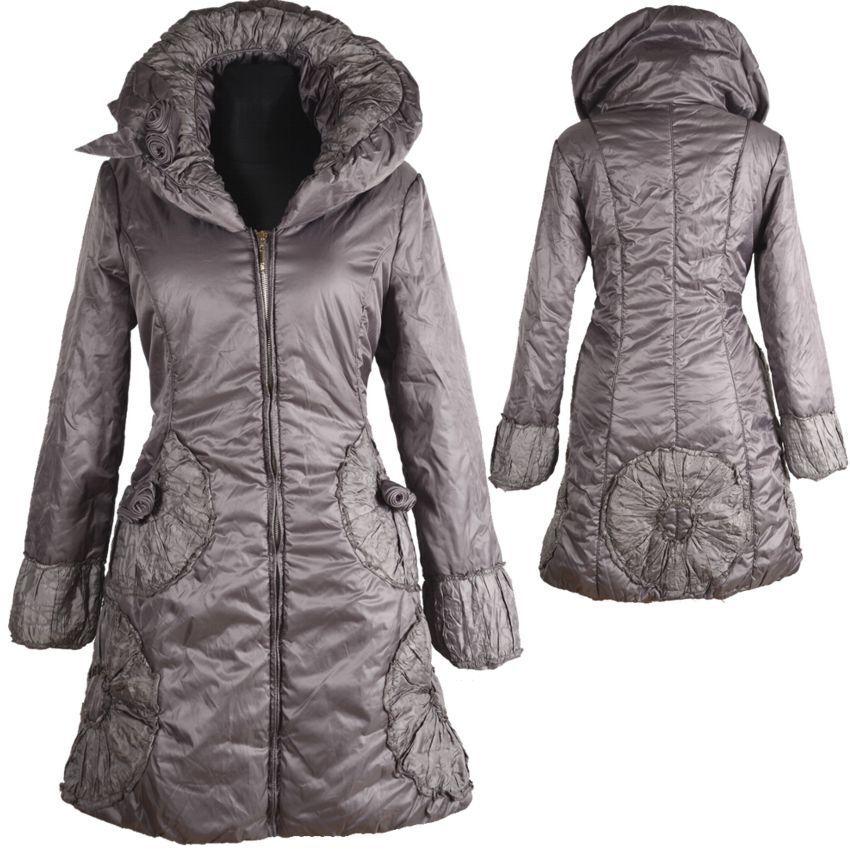 Donna Inverno 36 Palloncino Giacca Parka Cappotto 36 Inverno 38 S M Anorak  caldo grigio coat piumino 51c341 5edc4d11aee8