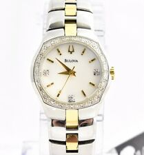 Bulova Women's 98R008 Diamond Accent Gold Tone Mother of Pearl Bracelet Watch