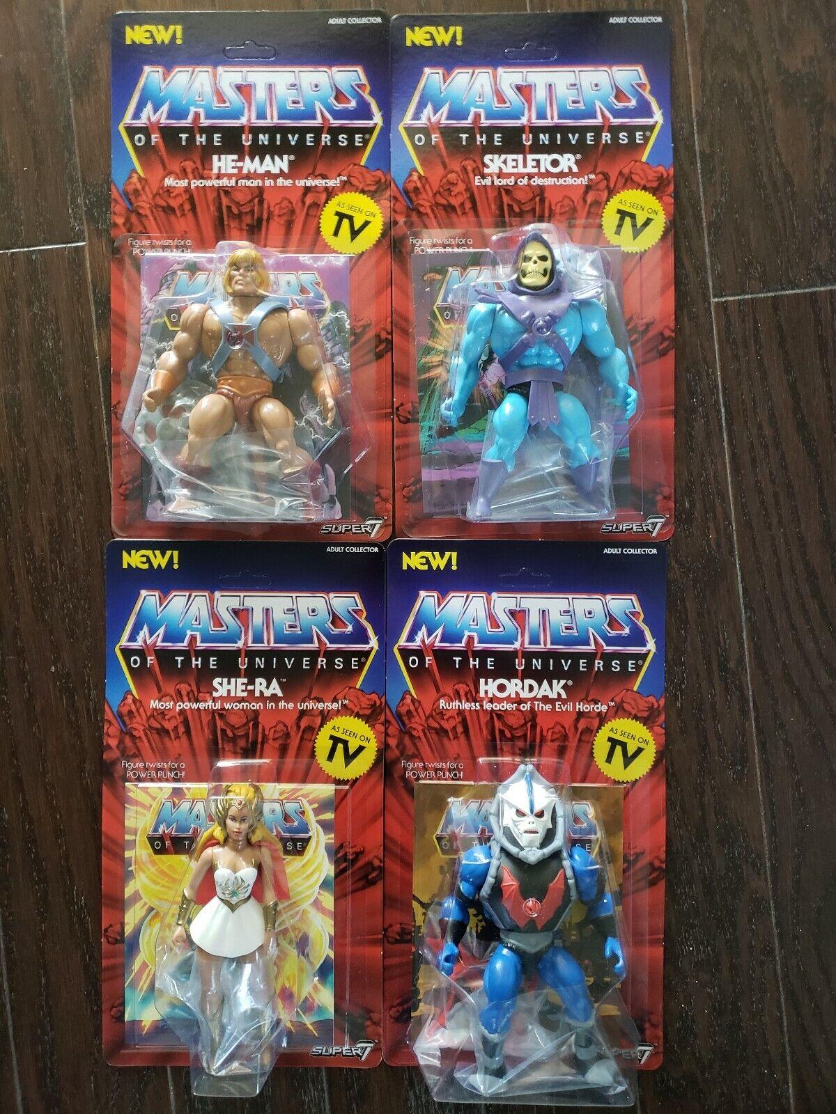 Super7 Masters of the Universe MOTU Wave 1 Set  HEuomo, SKELETOR, HORDAK, SHERA