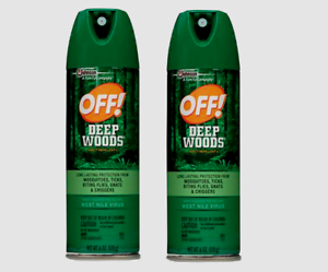 Details about 2 OFF DEEP WOODS Insect Repellent SPRAY Gnats Mosquitoes  Ticks Flies 8 Hours 6oz