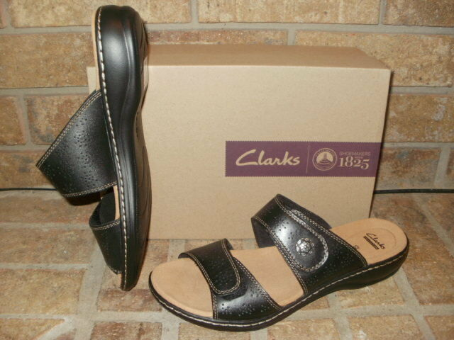 abc0bac1e Clarks Women s Leisa Lacole Leather Sandals 10 Black 26124793 for sale  online