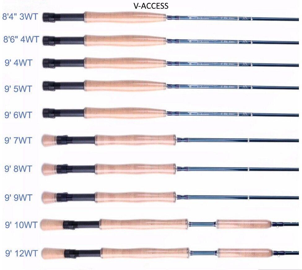 Maxcatch V-Access Fliegenrute Fly-Rod in 8 Größen, Größen, Größen, Fliegenfischen, ecfbe1