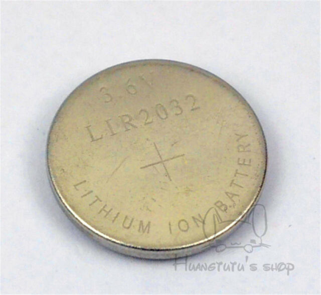 2 PCS LIR2032 LIR 2032 3.6V Rechargeable Li-ion button Cell Battery