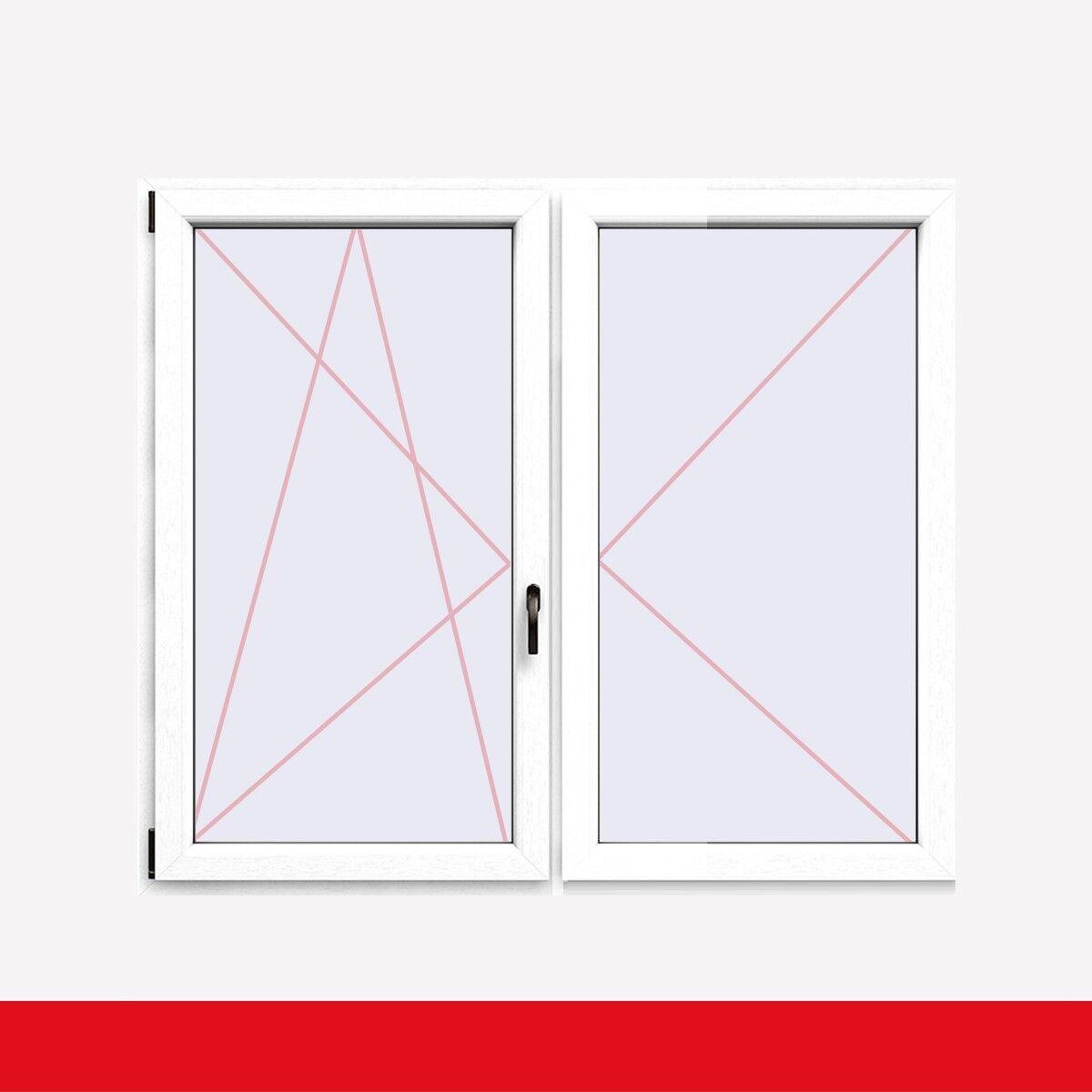 Stulpfenster Weiss FX beidseitig 2 flg. D/DK Kunststofffenster mit Stulp