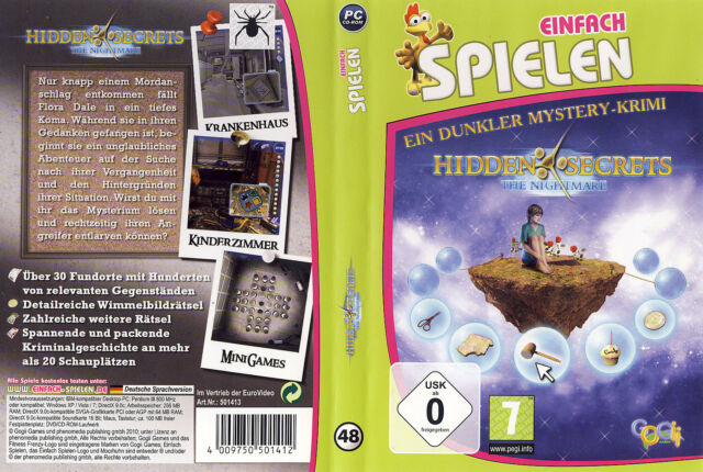 Hidden Secrets: The Nightmare * Wimmelbild-Spiel * (PC, 2010, DVD-Box)