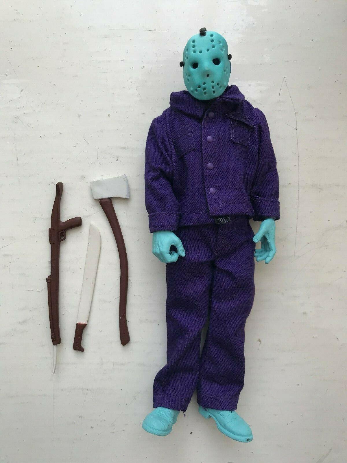 NECA Friday the 13TH Jason Voorhees vestidos Nes exclusivo Retro Glow oscuro figura