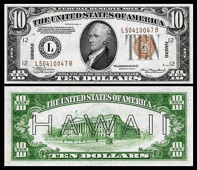 NICE CRISP UNC 1935 $1.00 US HAWAII OVERPRINT COPY PLEASE READ DESCRIPTION