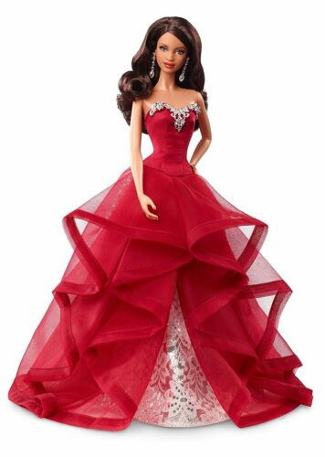 New Mildly Dam Box Barbie Collector 2015 Holiday African-American Doll Brunette