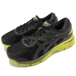 763cd3135762 Asics Gel-Kayano 25 2E Wide Black Neon Lime Mens Running Shoes ...