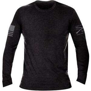 Grunt Style Basic Long Sleeve T-Shirt - Black Heather