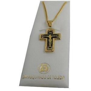 Damascene-Gold-Jesus-on-Cross-Crucifix-Pendant-Necklace-by-Midas-of-Toledo-3301