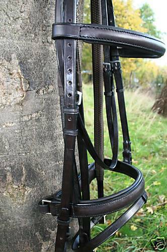 HERITAGE SADDLERY 100% ENGLISH MADE COB SIZE COMFORT FLASH CRANK COMFORT SIZE BRIDLES BL/BR db53bb