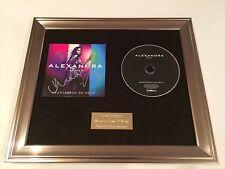 SIGNED/AUTOGRAPHED ALEXANDRA BURKE- HEARTBREAK ON HOLD CD FRAMED PRESENTATION.
