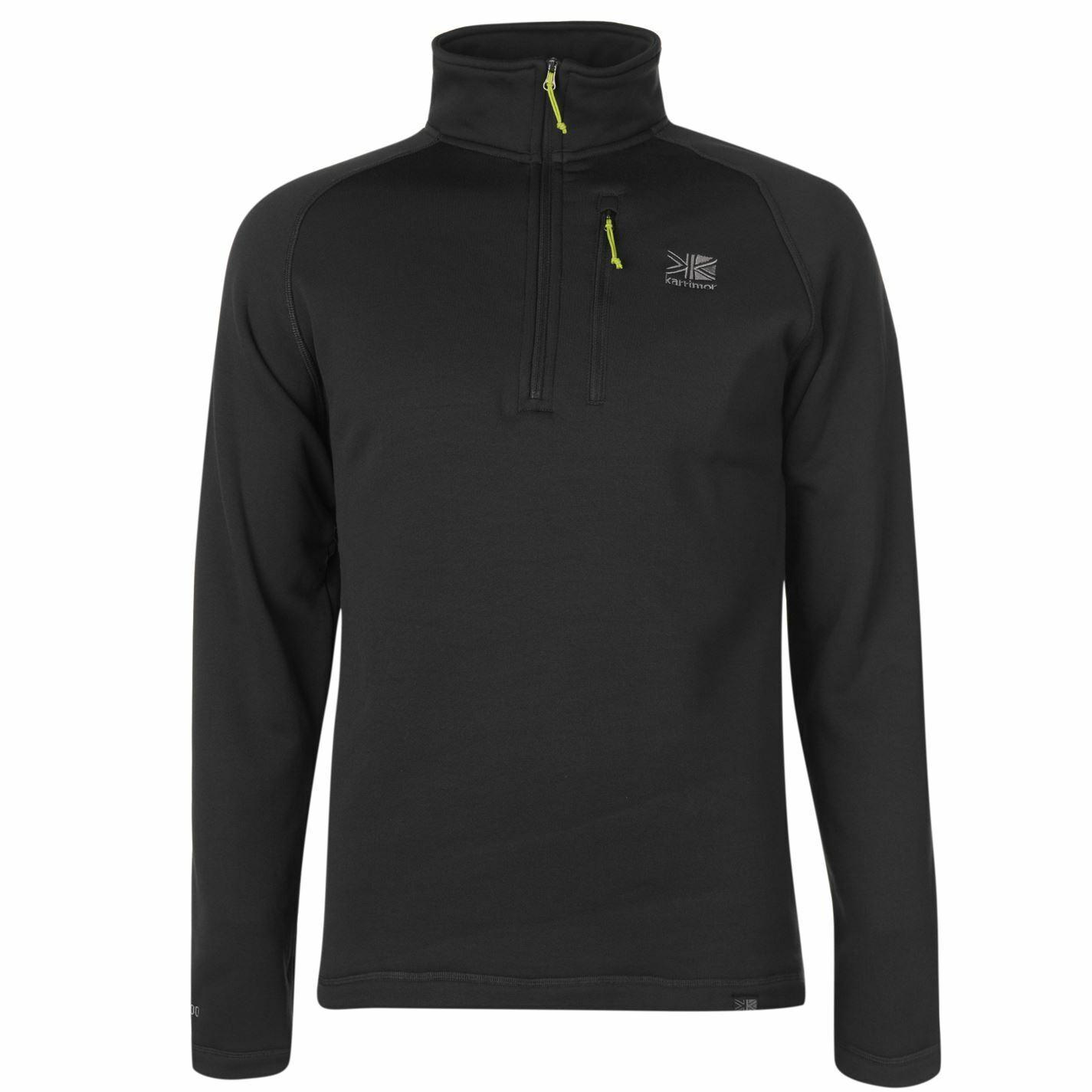 Karrimor Surge Half Zip Top Mens Gents Zipped Fleece Sweatshirt Jumper Funnel