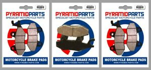 Front & Rear Brake Pads for Triumph Trophy 1200 (4 cyl) (up to VIN 4901) 92-93